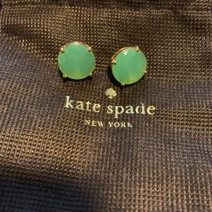 Mint green Kate Spade gum drop earrings